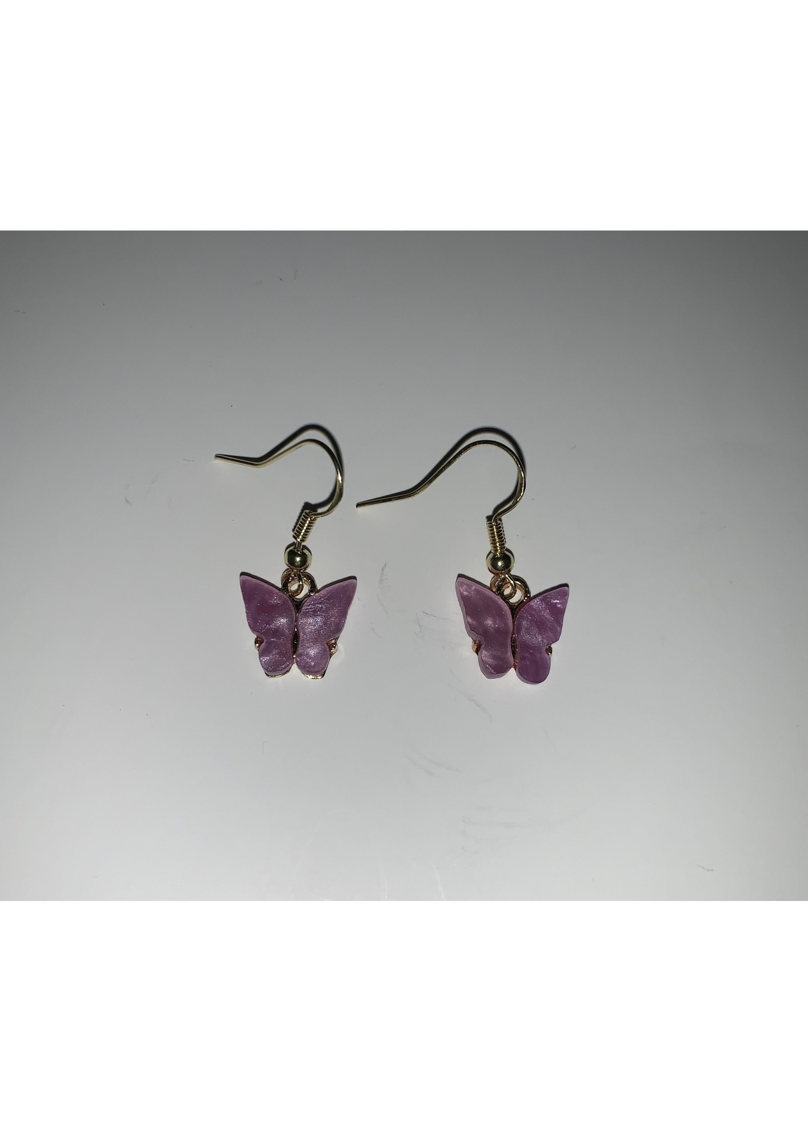 Earrings Light Purple Butterflies