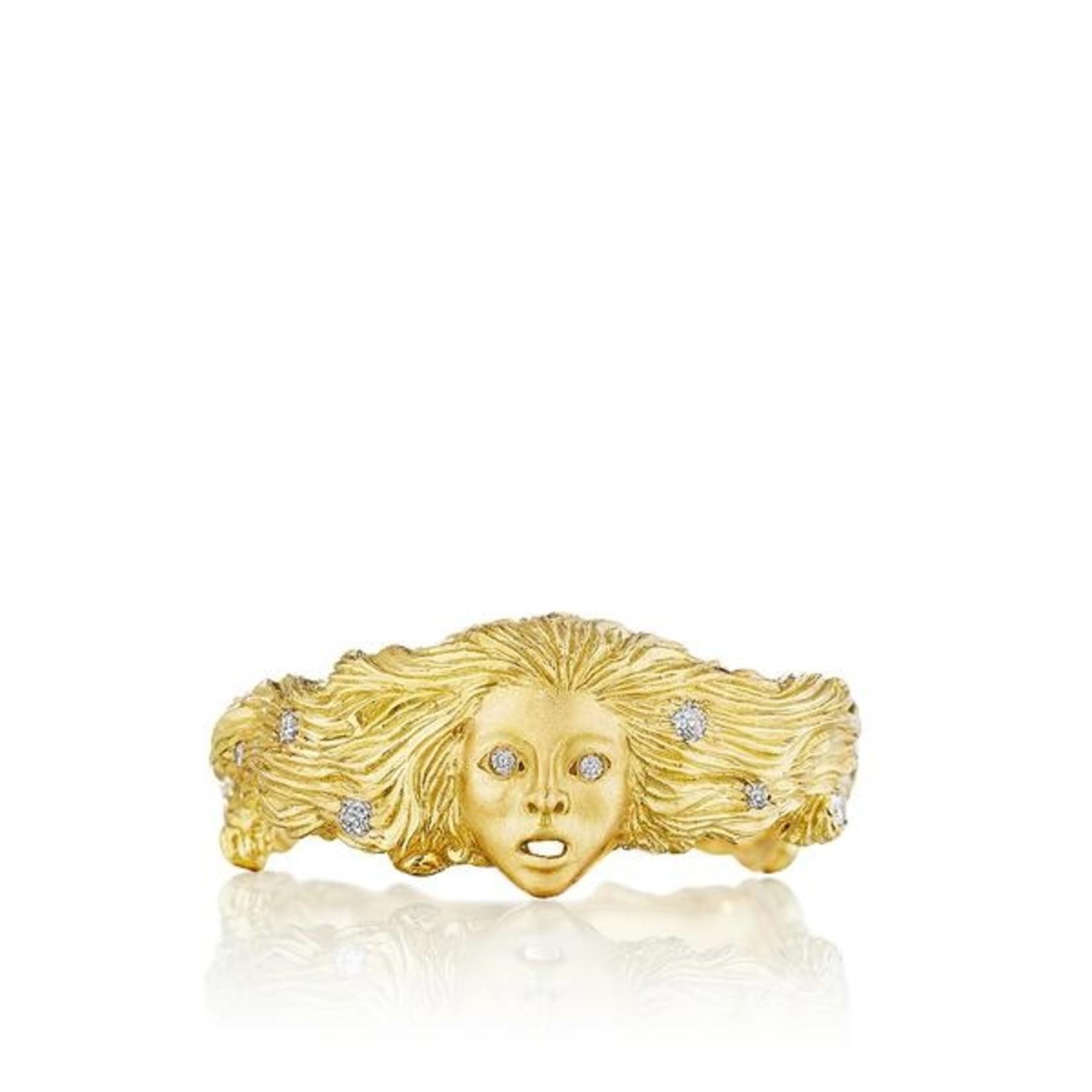 ANTHONY LENT SIREN RING18K GOLD (.10CT)