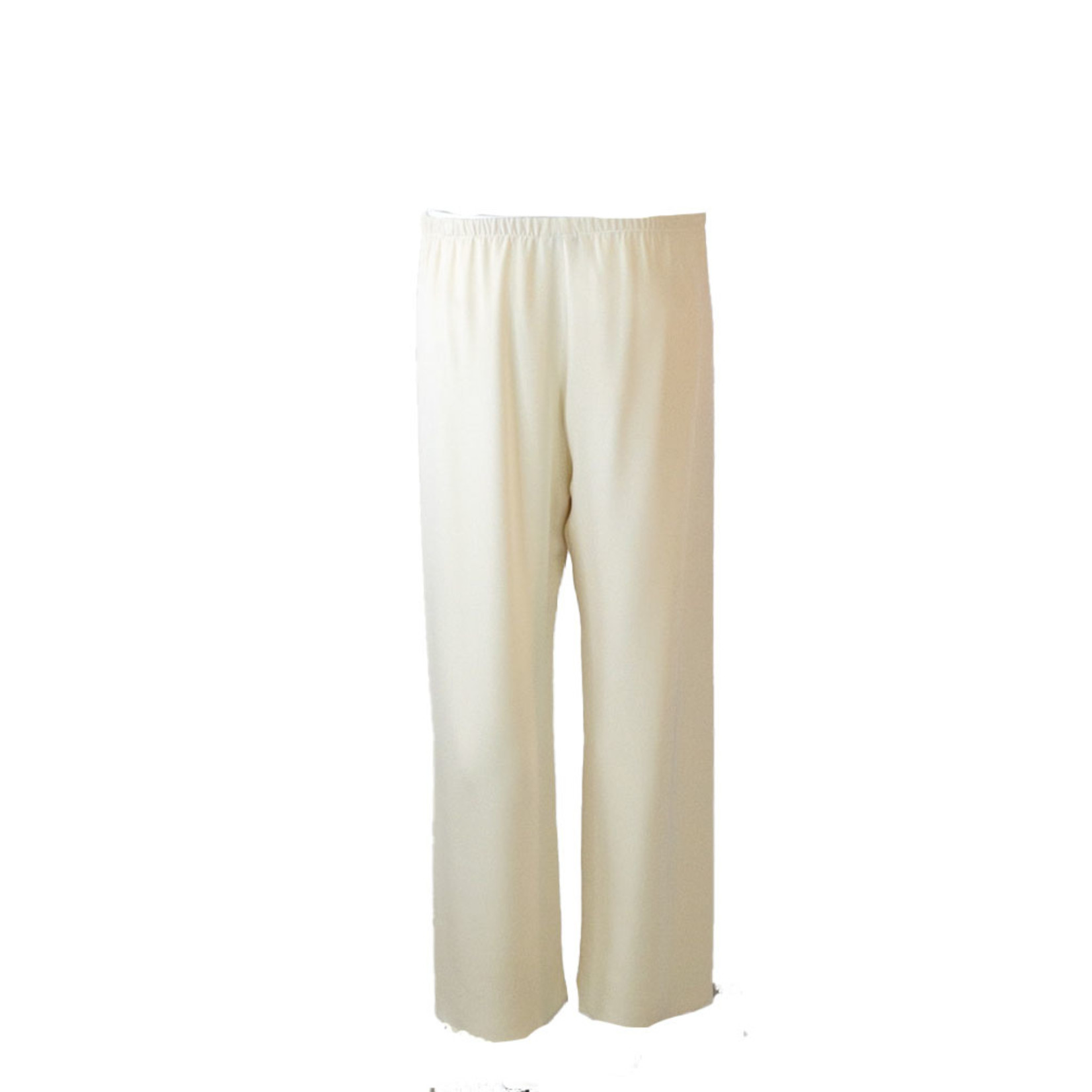 PETER COHEN SILK CROPPED PULL-ON PANTS
