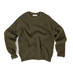 JOHNSTONS OF ELGIN RIBBED CASHMERE SWEATER