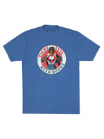Out of Print Fight Evil, Read Books Blue T-Shirt - Adult Unisex