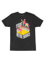 Out of Print Fight Evil, Read Books - Fight Ring T-Shirt - Adult Unisex