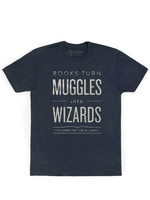 Out of Print Books Turn Muggles Into Wizards T-Shirt - Adult Unisex