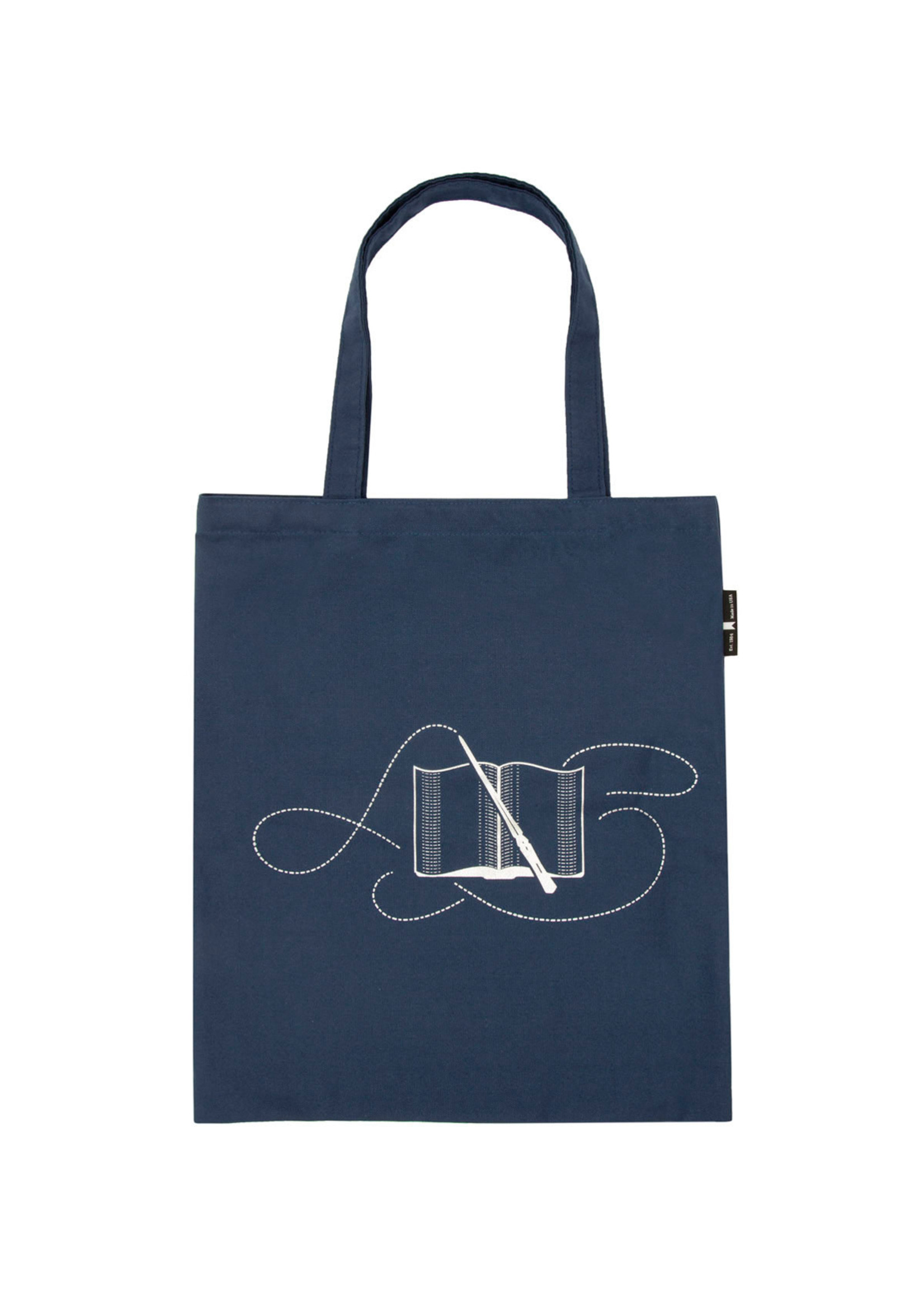 Out of Print Books Turn Muggles into Wizzards Tote