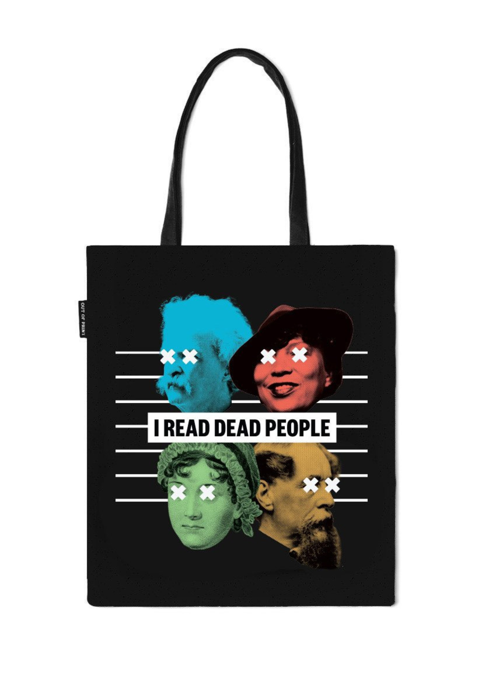Out of Print I Read Dead People Tote