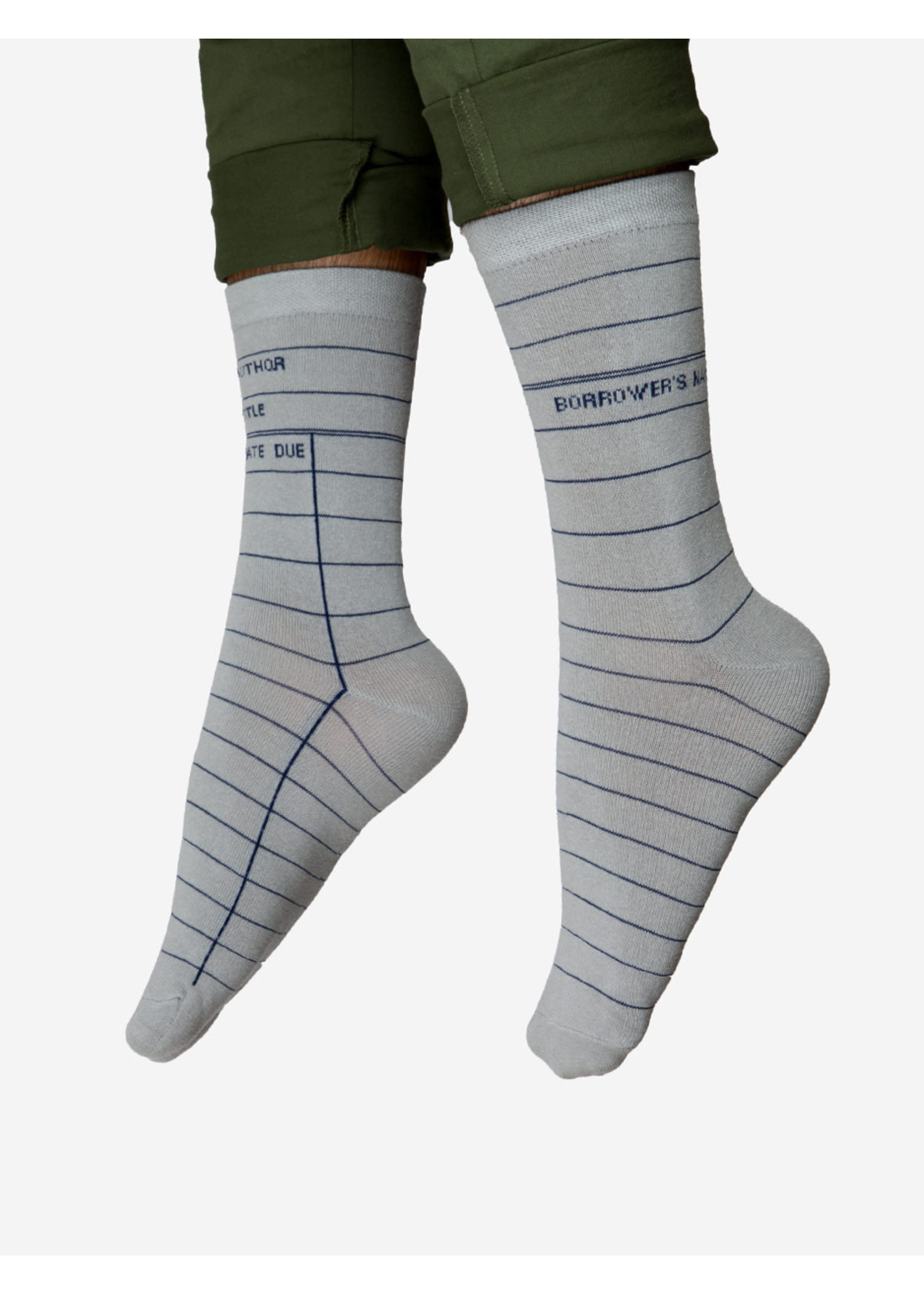 Out of Print Library Card Socks - Adult