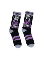 Out of Print Fight Evil, Read Books Socks - Adult