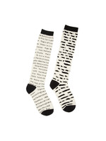 Out of Print Banned Books Socks - Adult