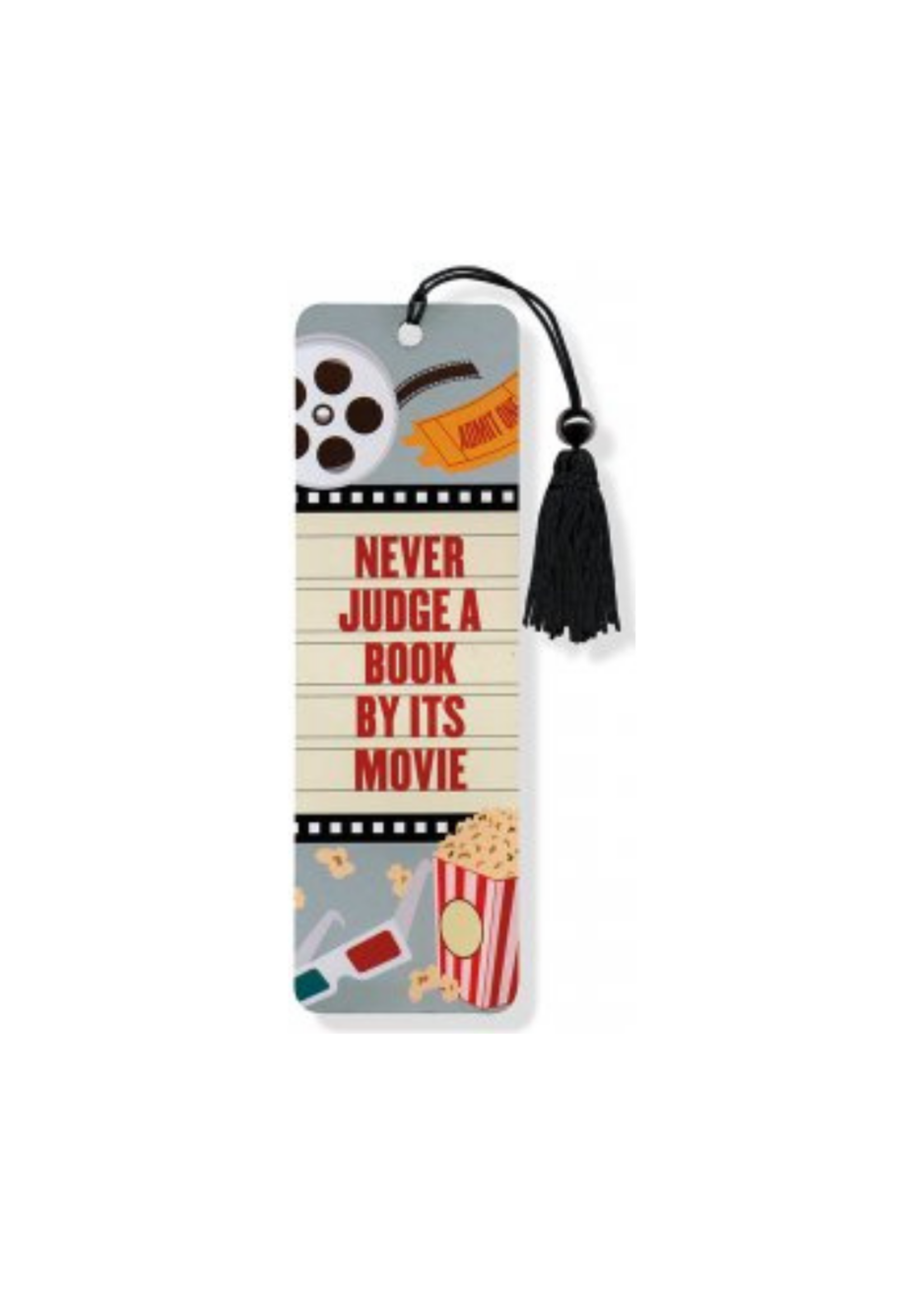 Peter Pauper Press Never Judge A Book By Its Movie Beaded Bookmark
