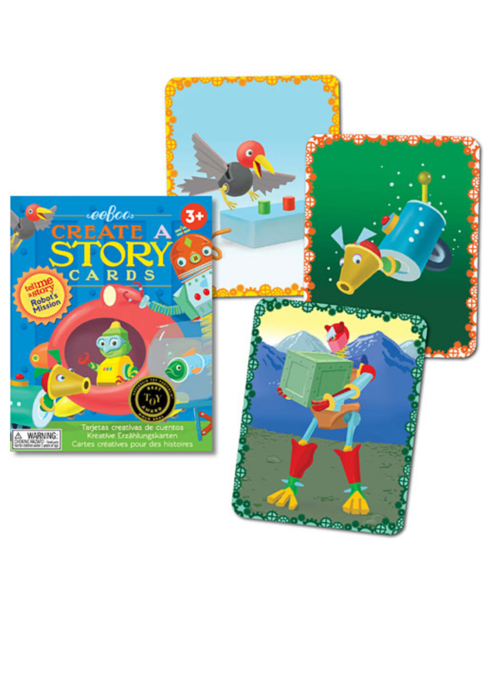 eeBoo Robot's Mission Create a Story Cards