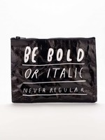 Blue Q Italic or Bold Zipper Pouch