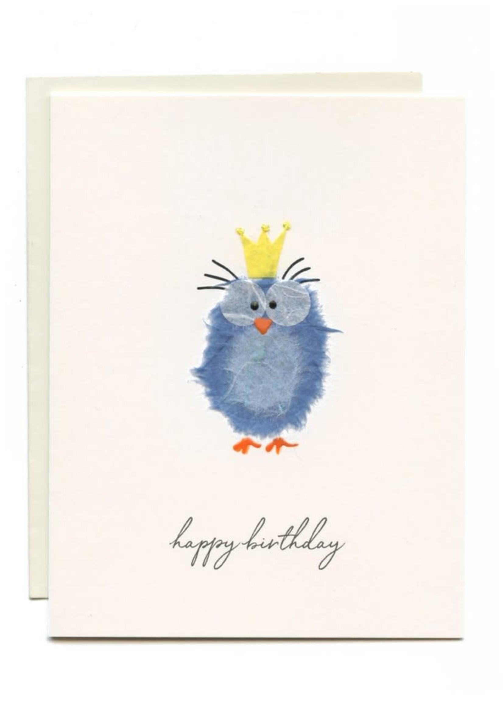 Flaunt Blue Bird Birthday Card