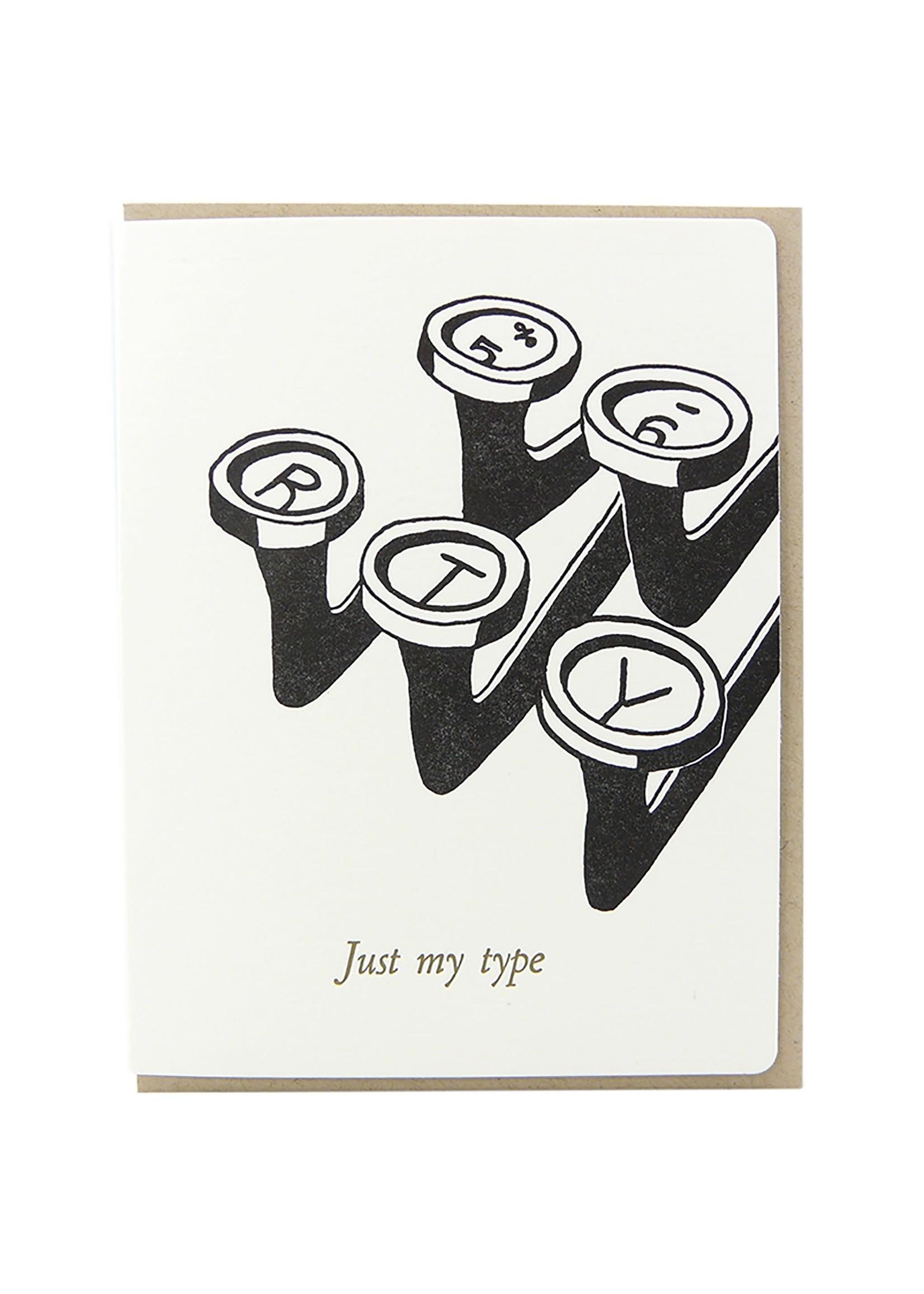Dogwood Letterpress Just My Type Card