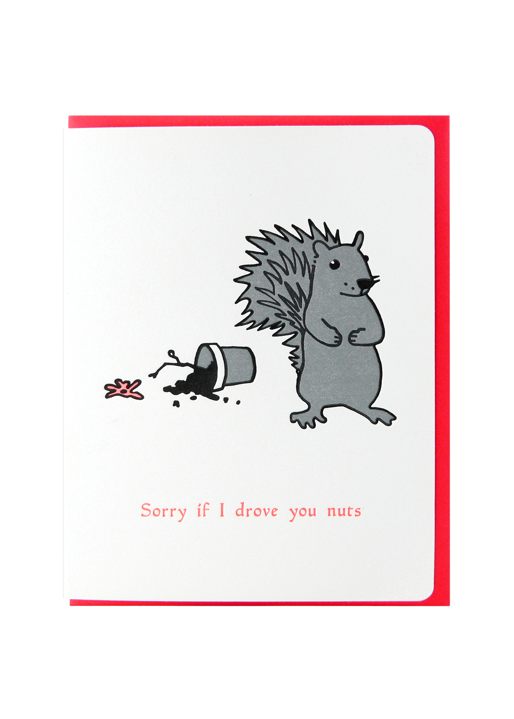 Dogwood Letterpress Sorry I Drove You Nuts Squirrel
