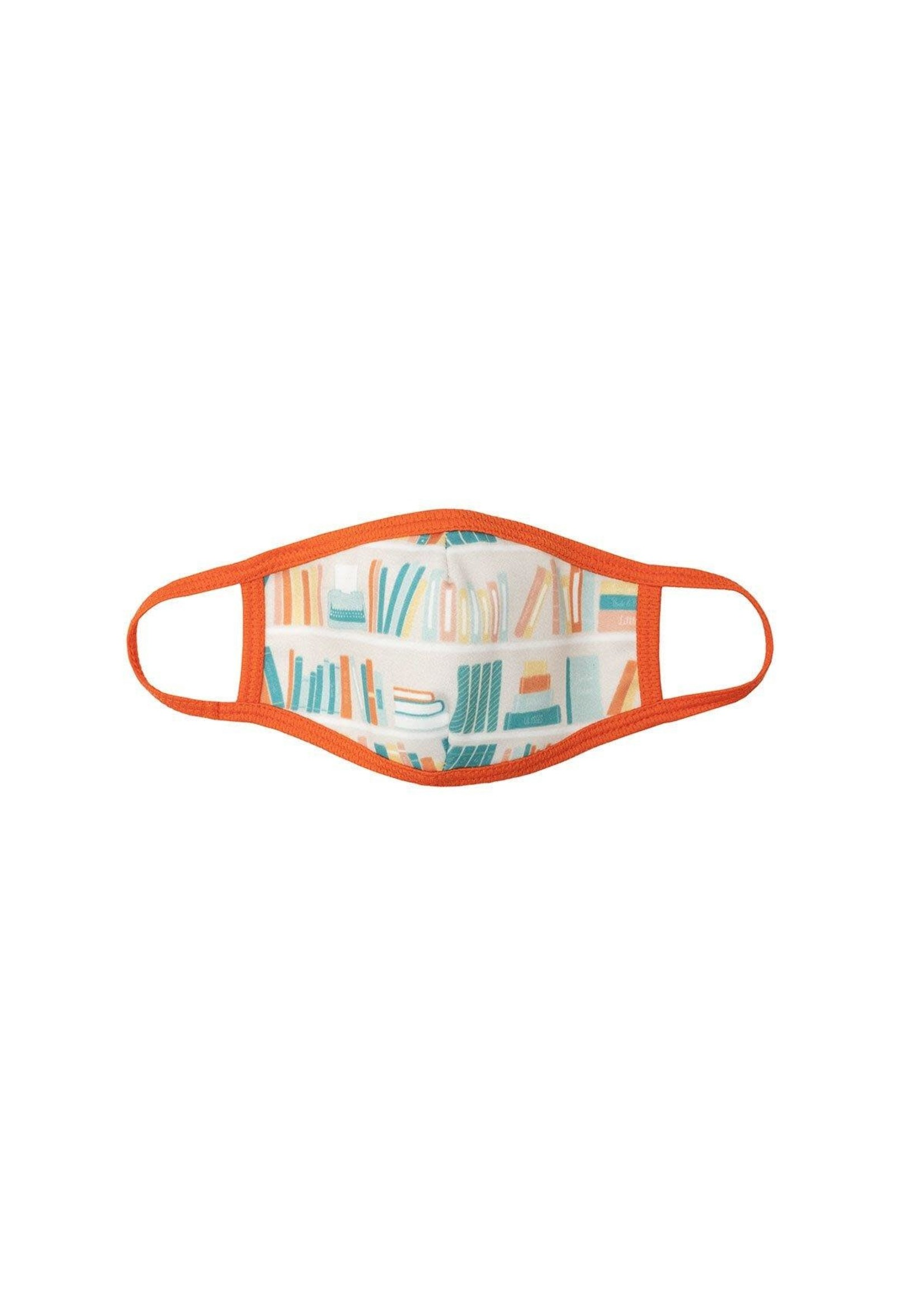 Out of Print Bookshelf Face Mask