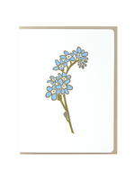 Dogwood Letterpress Forget-Me-Nots