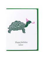 Dogwood Letterpress Birthday Belated Turtle