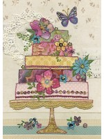 Bug Art Flower Cake