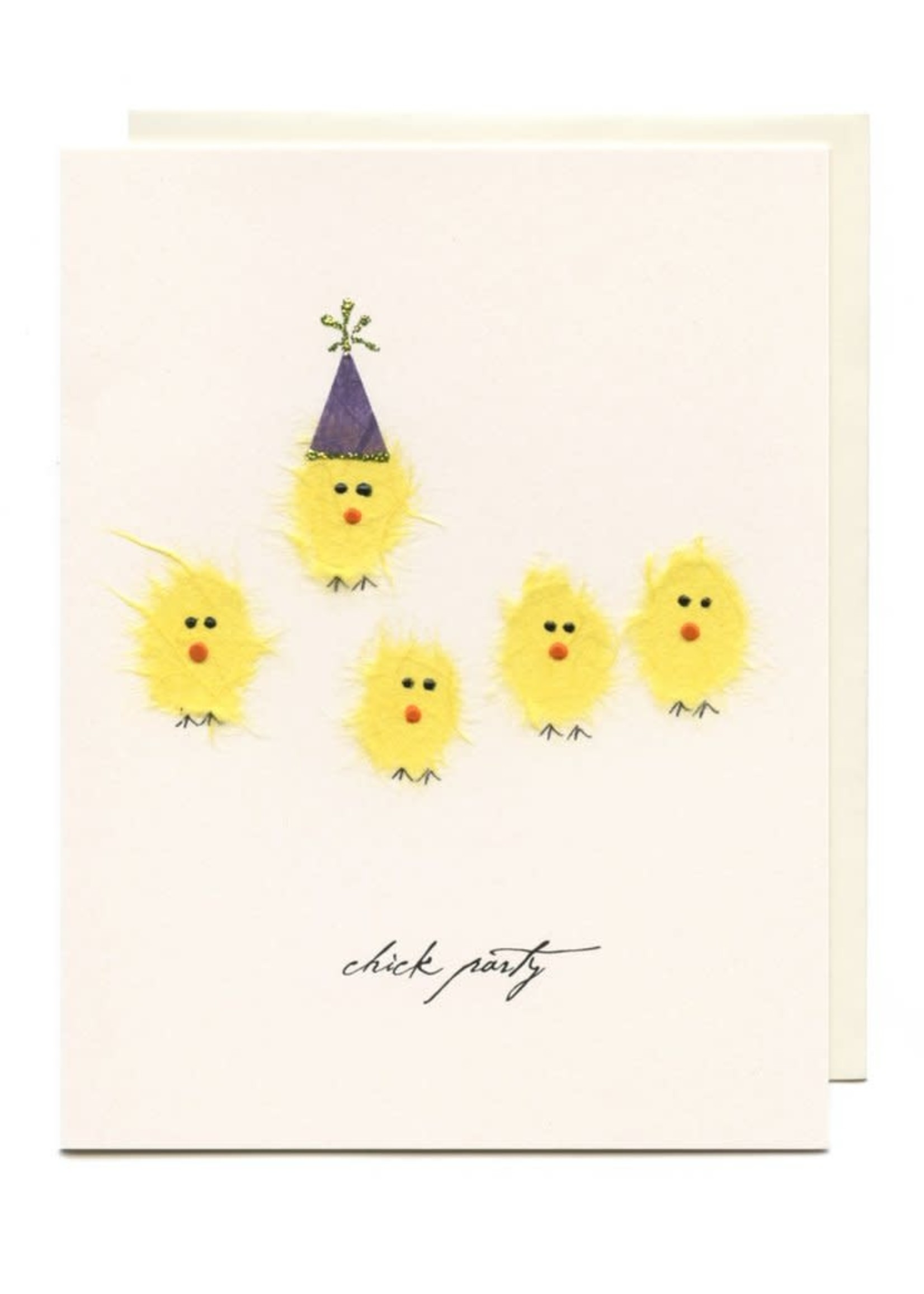 Flaunt Chick Party Birthday Card