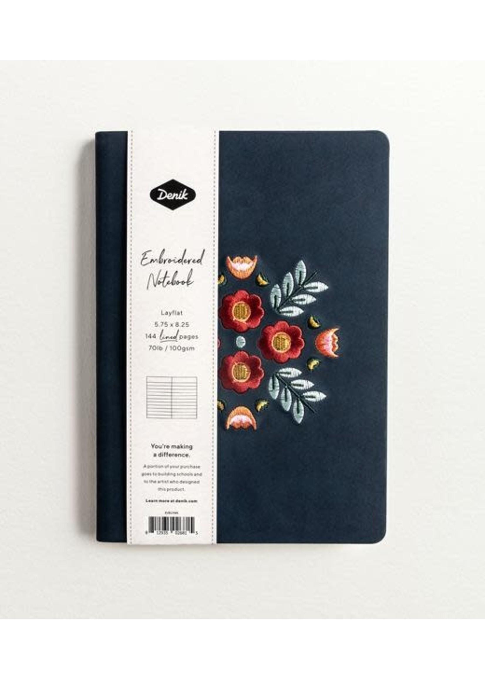 Denik Evelyn Blue Lined Journal