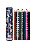 Floss & Rock Coloured Pencils - 12 Set Tube