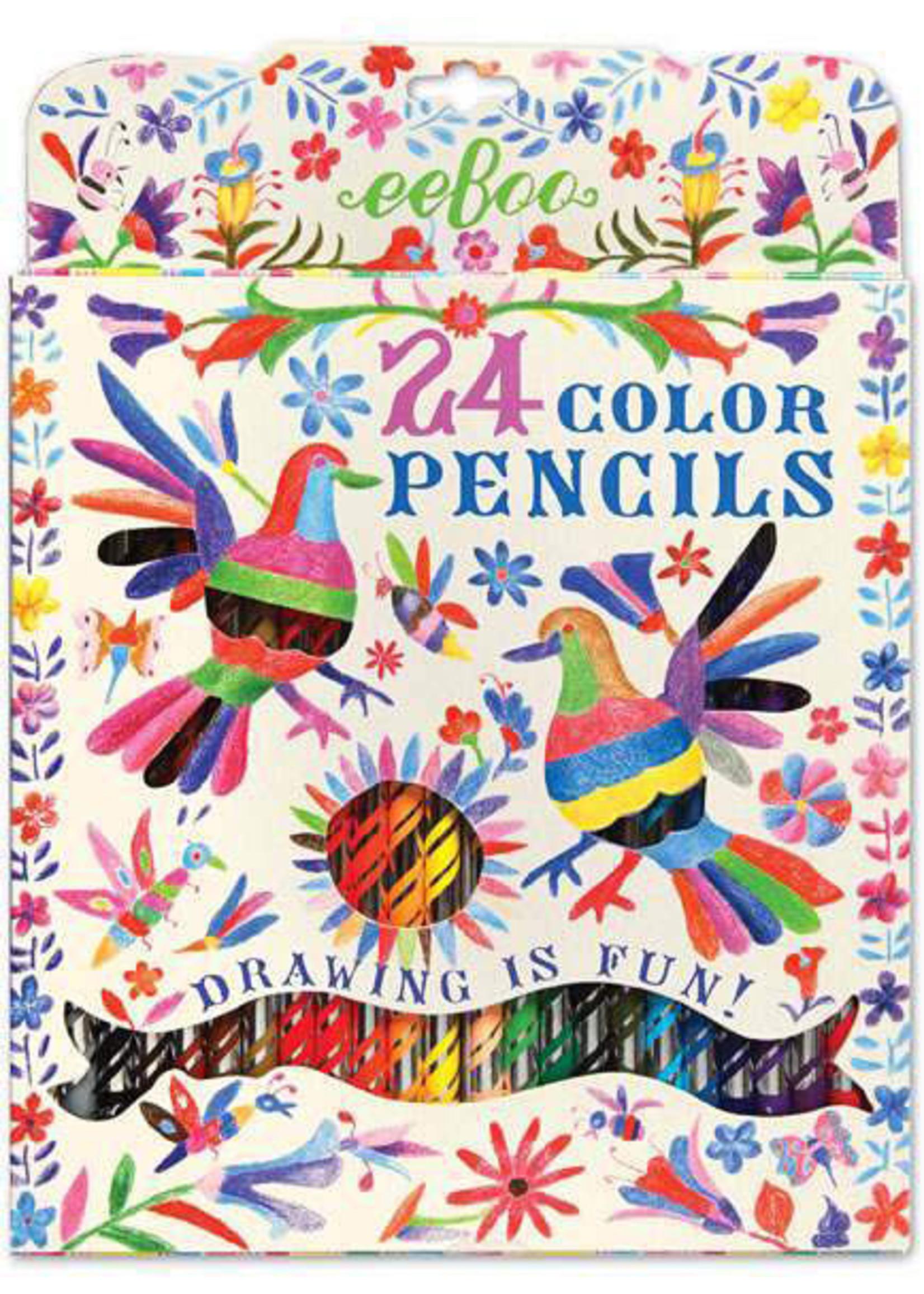 eebo Oaxaca Birds - 24 Color Pencils