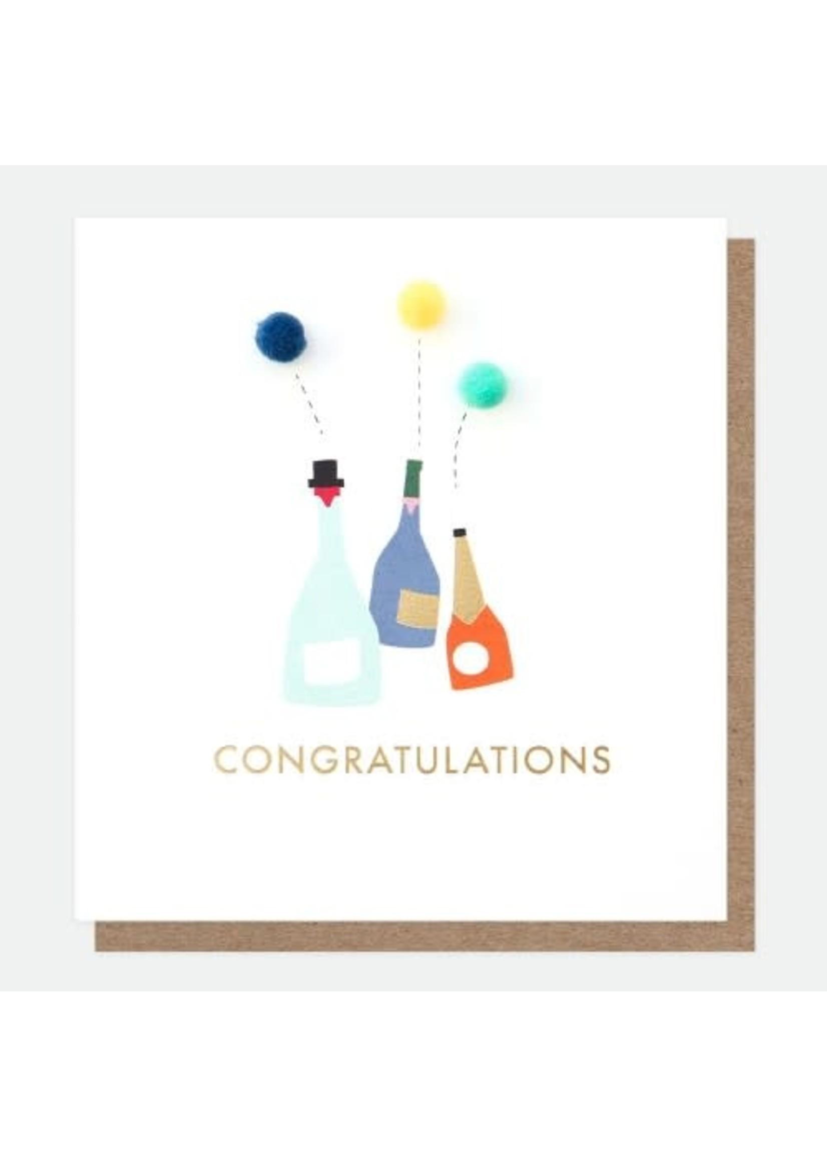 Caroline Gardner Congrat Mini Poms Greeting Card