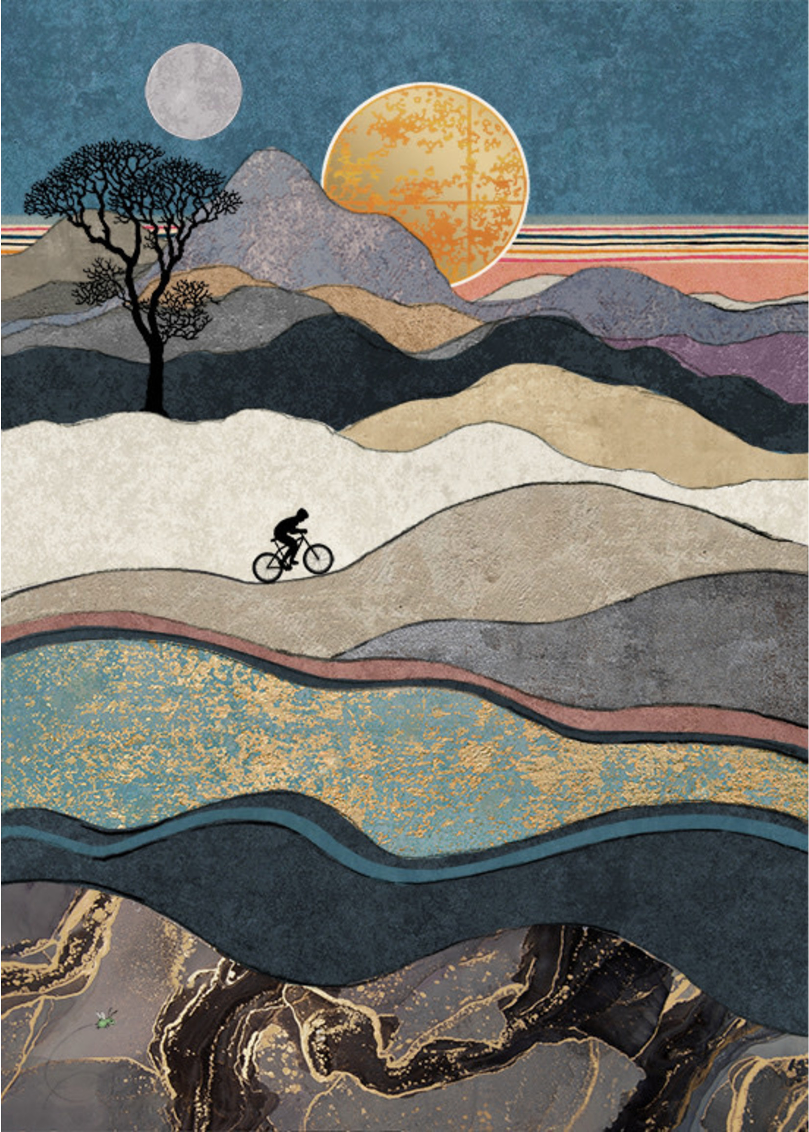 Bug Art Hill Cyclist