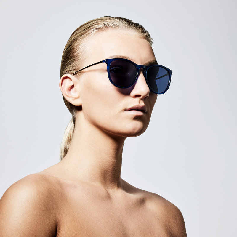 Pilgrim Sunglasses Vanille Silver Plated Blue - 752116208