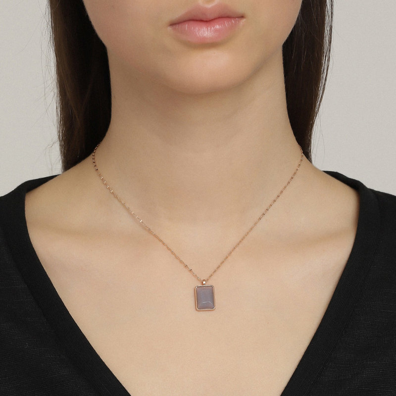 Pilgrim Necklace Verdandi Purple Matrix