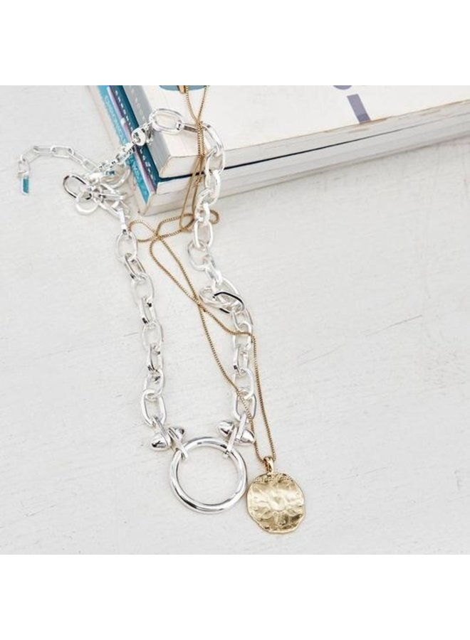 Necklace Affection Silver Plated - 122036011