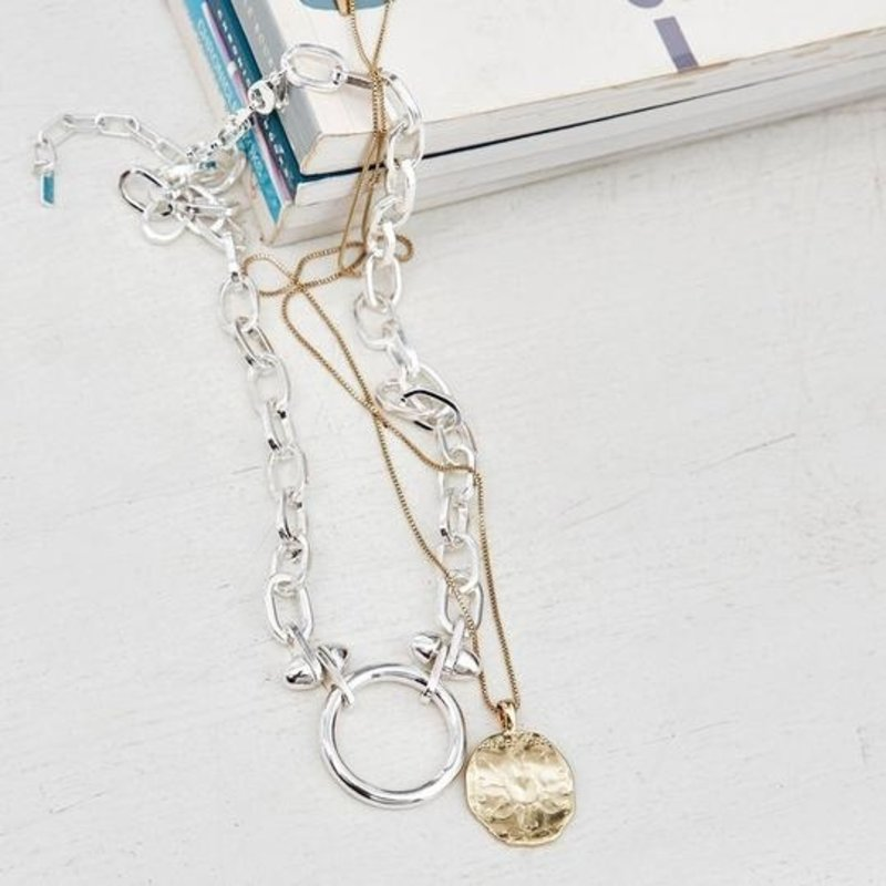 Pilgrim Necklace Affection Silver Plated - 122036011