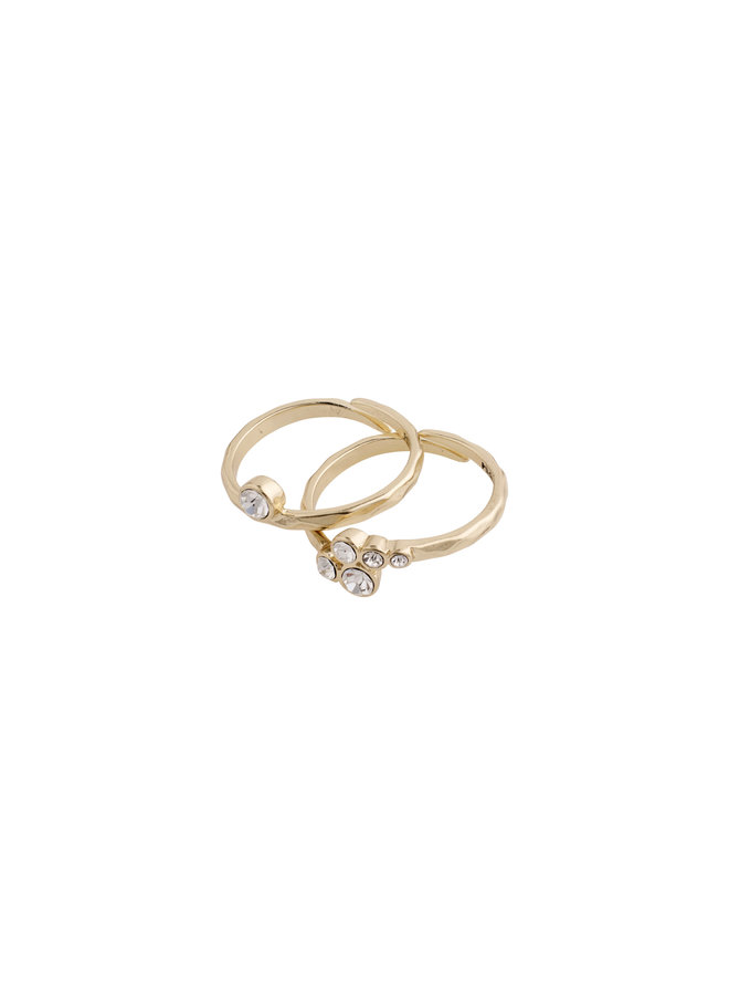 Ring Fran Gold Plated Crystal - 602032004
