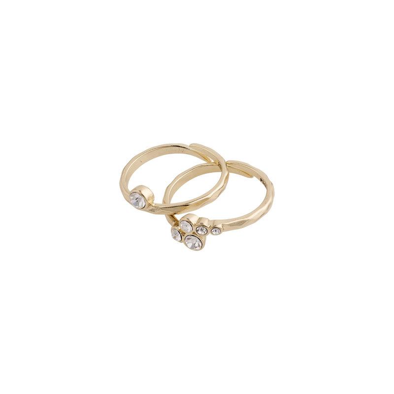 Pilgrim Ring Fran Gold Plated Crystal - 602032004