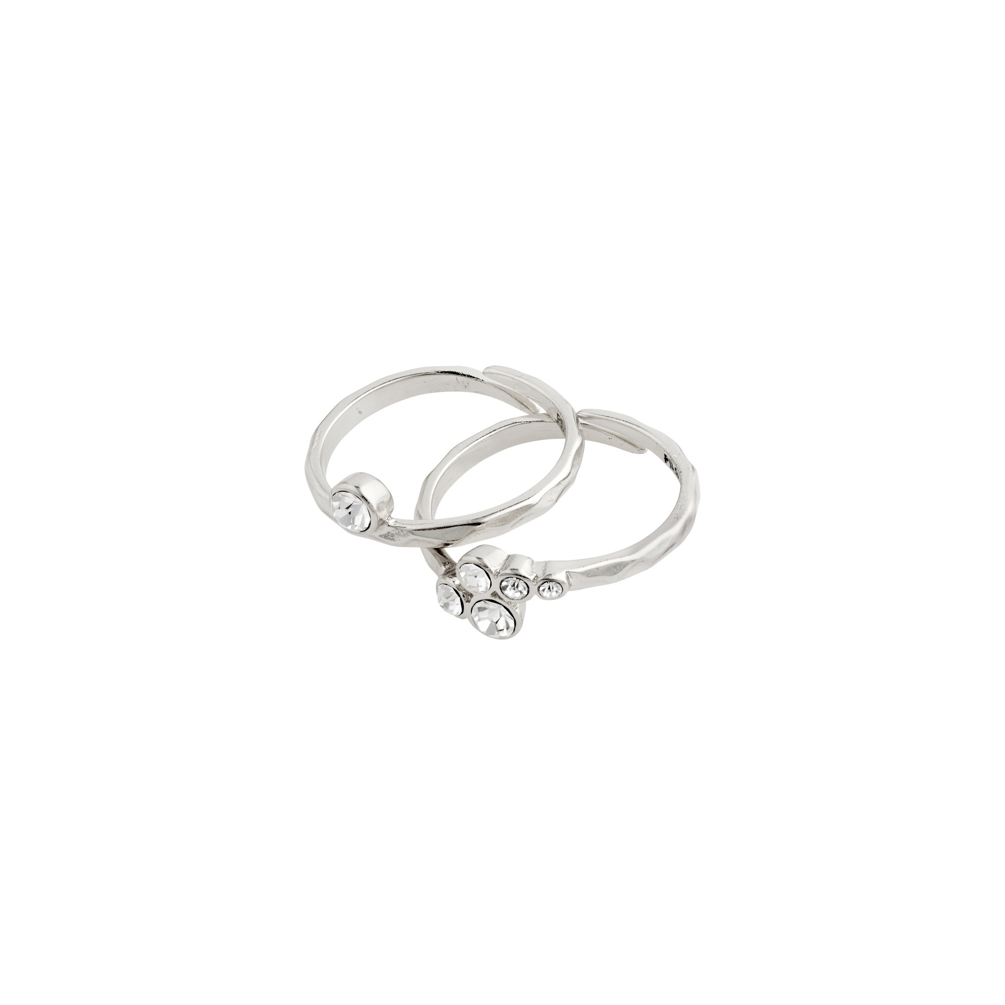 Pilgrim Ring Fran Silver Plated Crystal - 602036004
