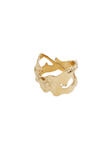Pilgrim Ring Compass Gold Plated - 102112004