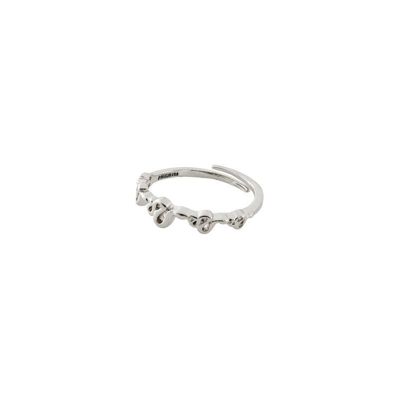 Pilgrim Ring Blaze Silver Plated - 602016014