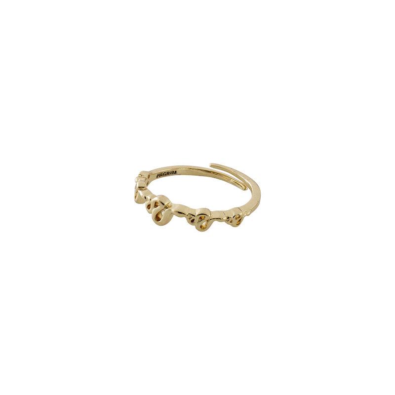 Pilgrim Ring Blaze Gold Plated - 602012014