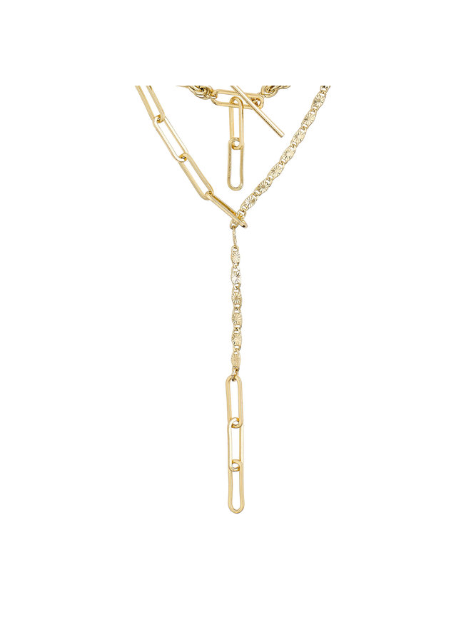 Necklace Simplicity Gold Plated - 122112011
