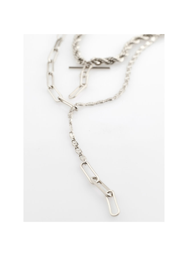 Necklace Simplicity Silver Plated - 122116011