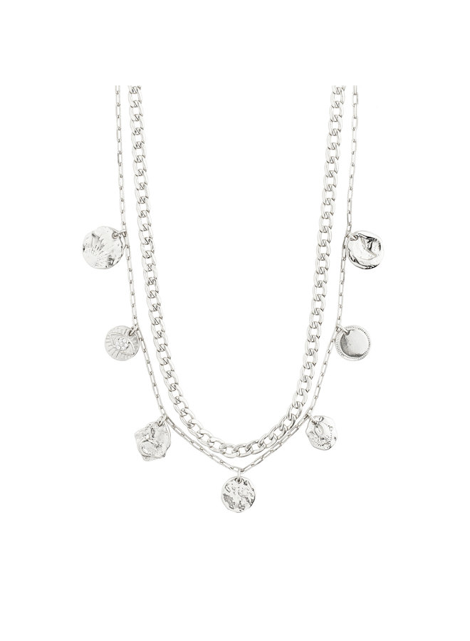Necklace Poesy Silver Plated Crystal - 142116001