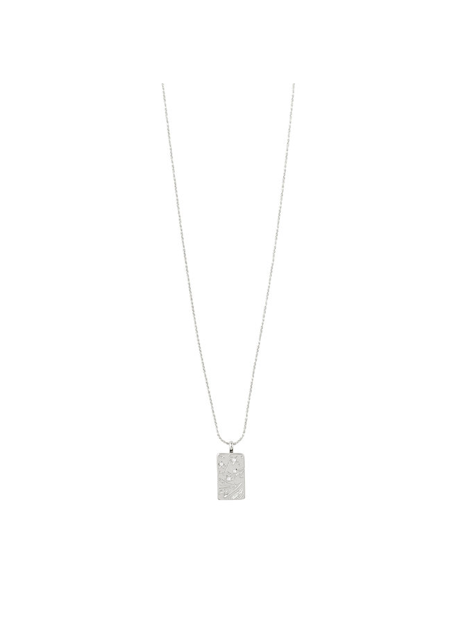 Necklace Gracefulness Silver Plated Crystal - 112046001