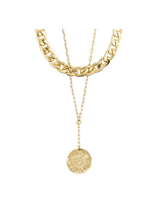 Necklace Compass Gold Plated - 102112001