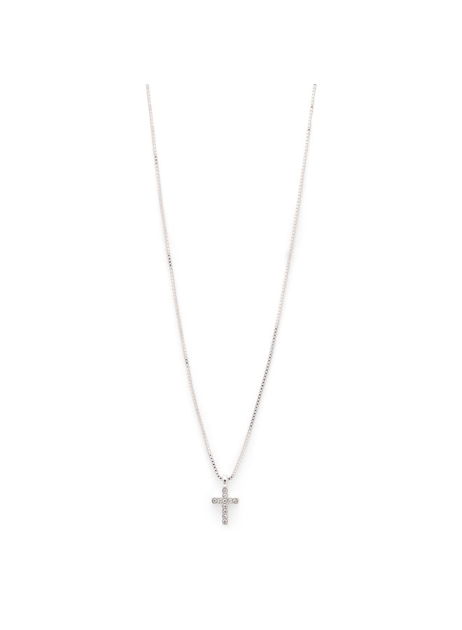 Necklace Clara Silver Plated Crystal - 601916001