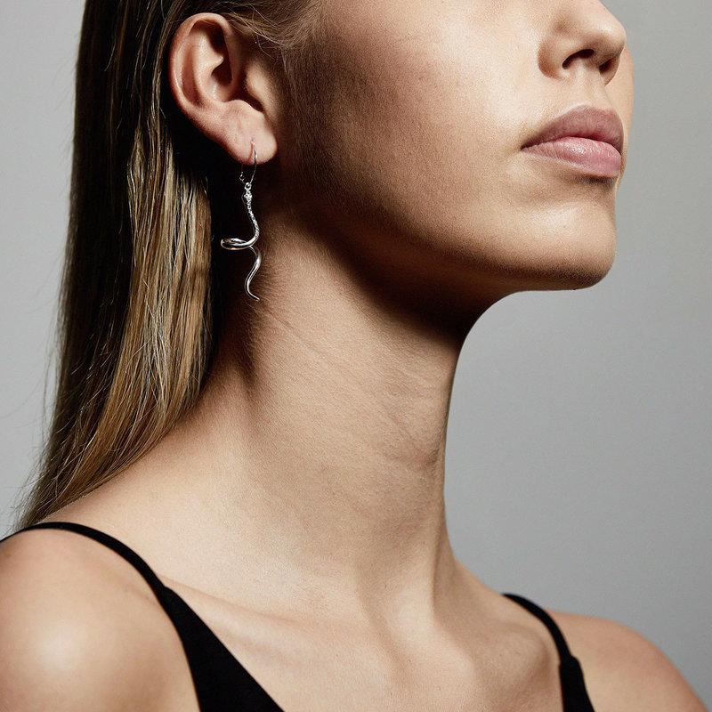 Pilgrim Earrings Sensitivity Silver Plated Crystal - 112036013