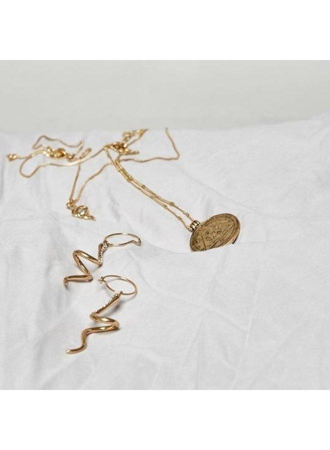 Earrings Sensitivity Gold Plated Crystal - 112032013