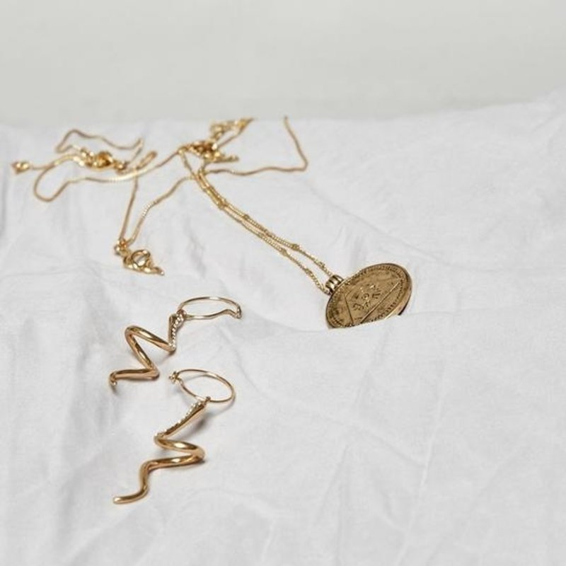 Pilgrim Earrings Sensitivity Gold Plated Crystal - 112032013