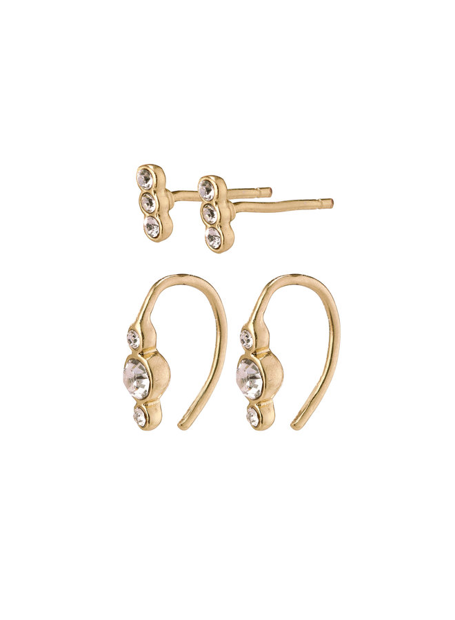 Earrings Radiance Gold Plated Crystal - 132042003