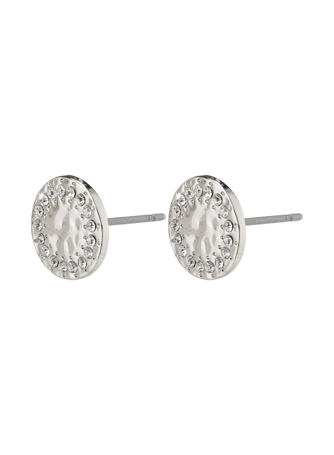 Earrings Compassion Silver Plated Crystal - 142046003
