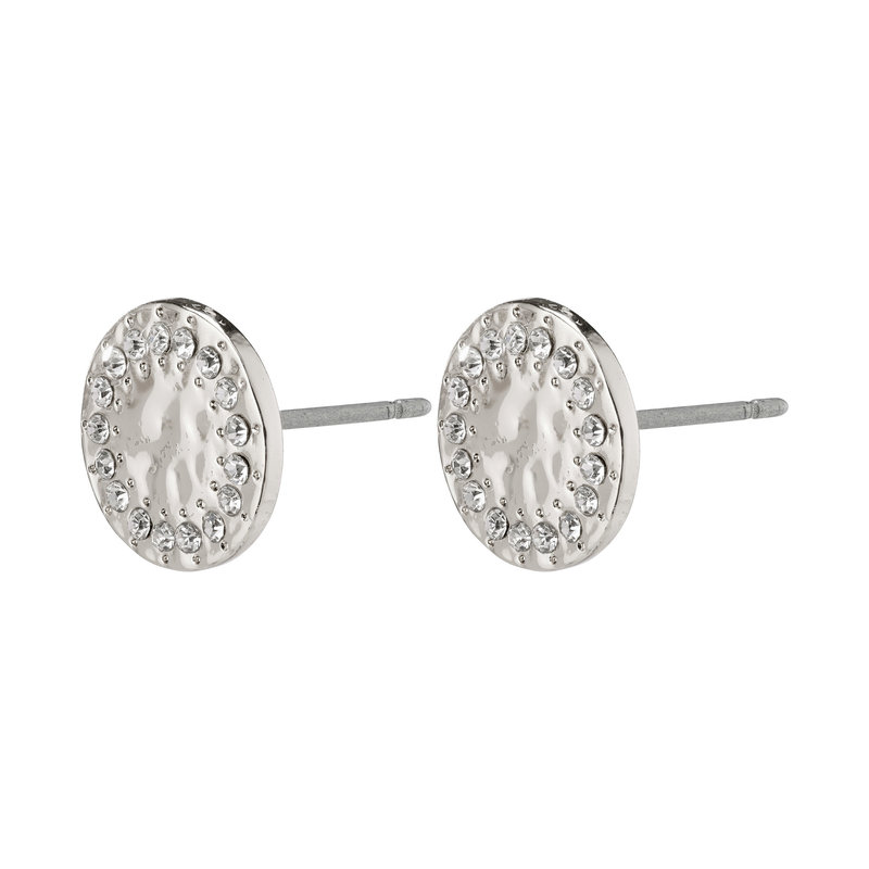 Pilgrim Earrings Compassion Silver Plated Crystal - 142046003